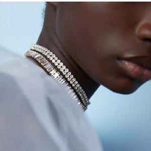 NEW 🖤 ZARA Layered Rhinestone Choker Necklace Set